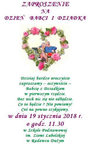 Dzień Babci I Dziadka 2018